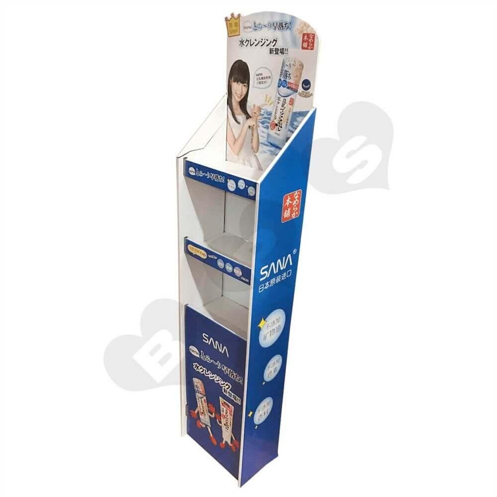 Cardboard Corrugated Cosmetic Shelf Sideview One