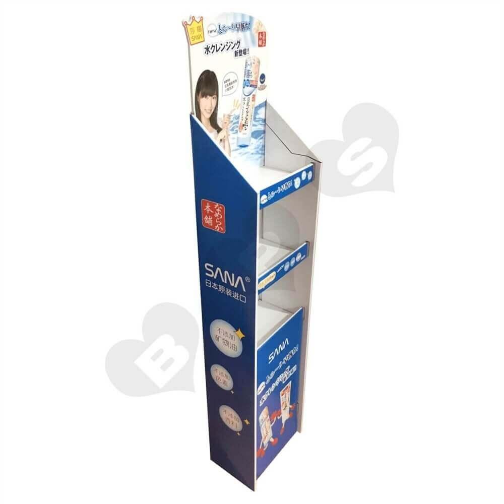 Cardboard Corrugated Cosmetic Shelf Sideview Two