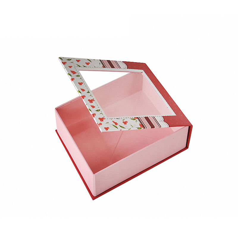 Cardboard Gift Box With Plastic Window