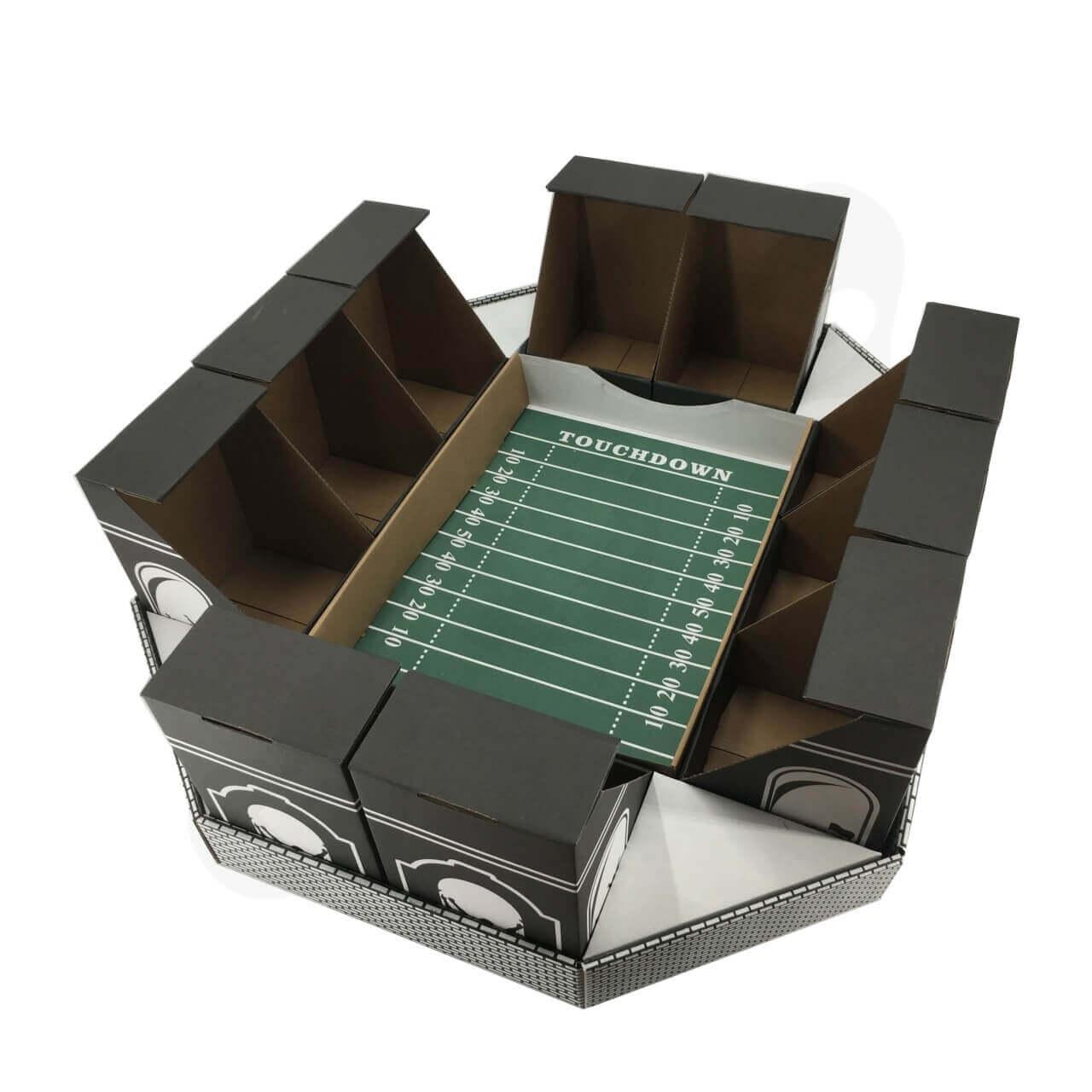 Cardboard Snack Stadium Super Bowl 1