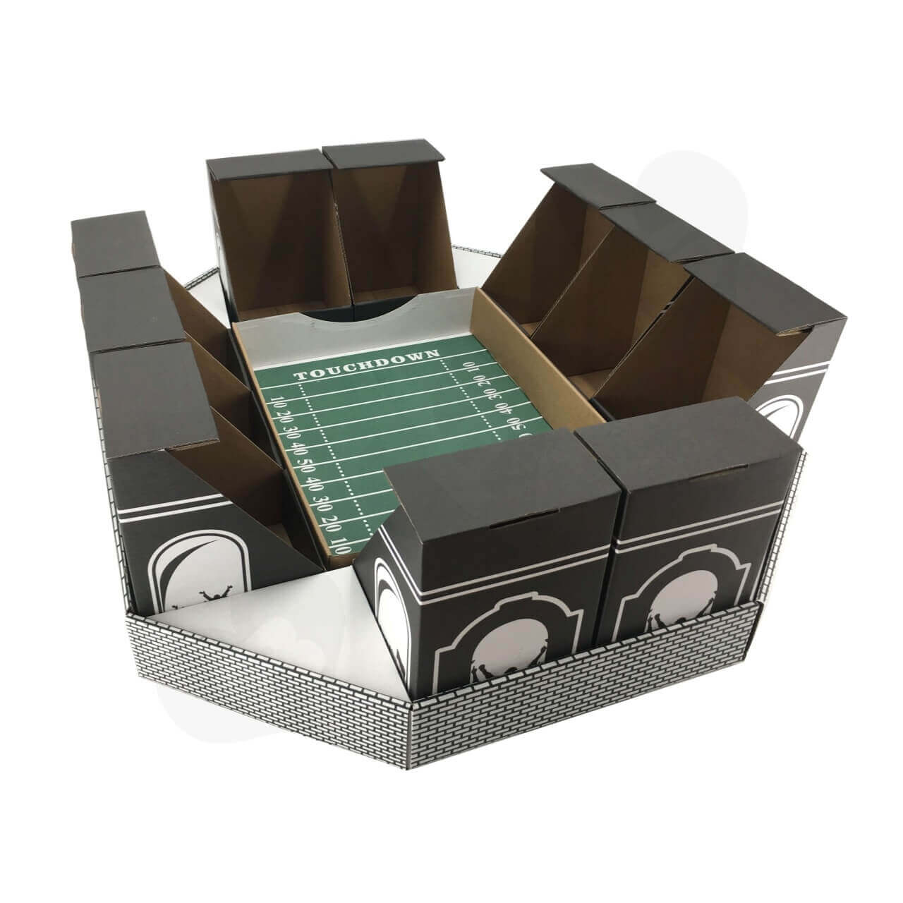 Cardboard Snack Stadium Super Bowl 4