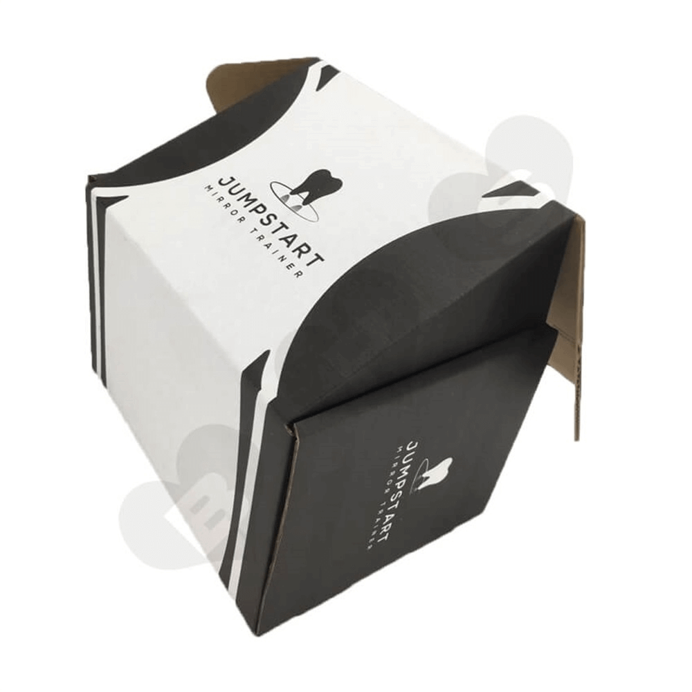 Cardboard Foldable Dental Packaging Suitcase Side View Five
