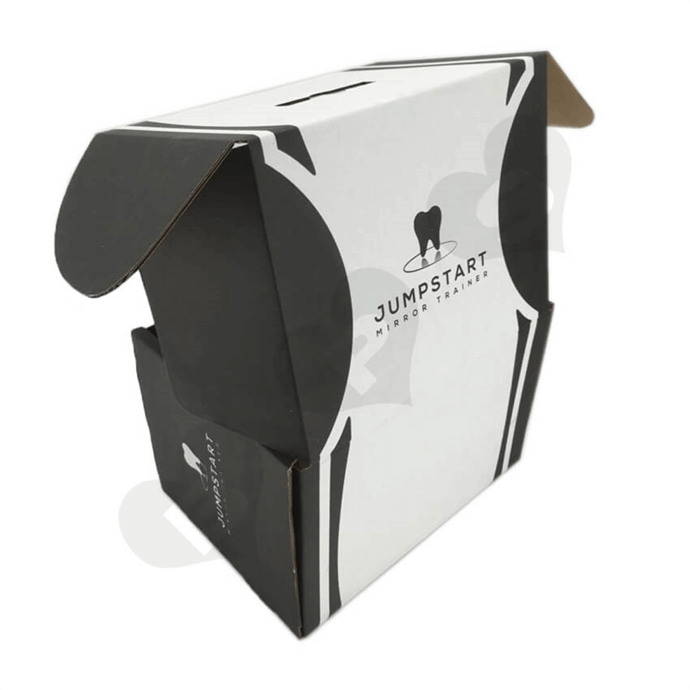 Cardboard Foldable Dental Packaging Suitcase Side View Six