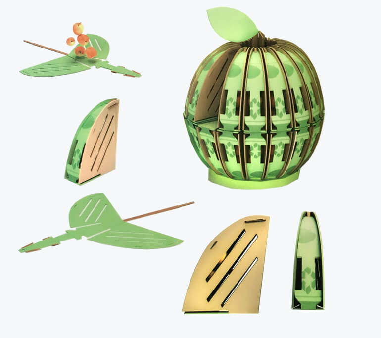 Creative Watermelon Shape Cardboard Packaging Box