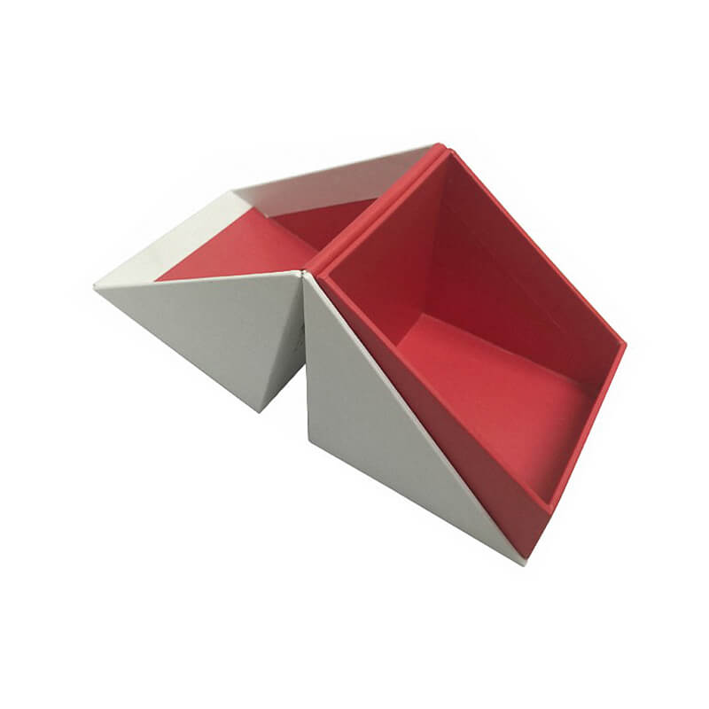 Cubic To Triangle Gift Boxes Double Side Printed