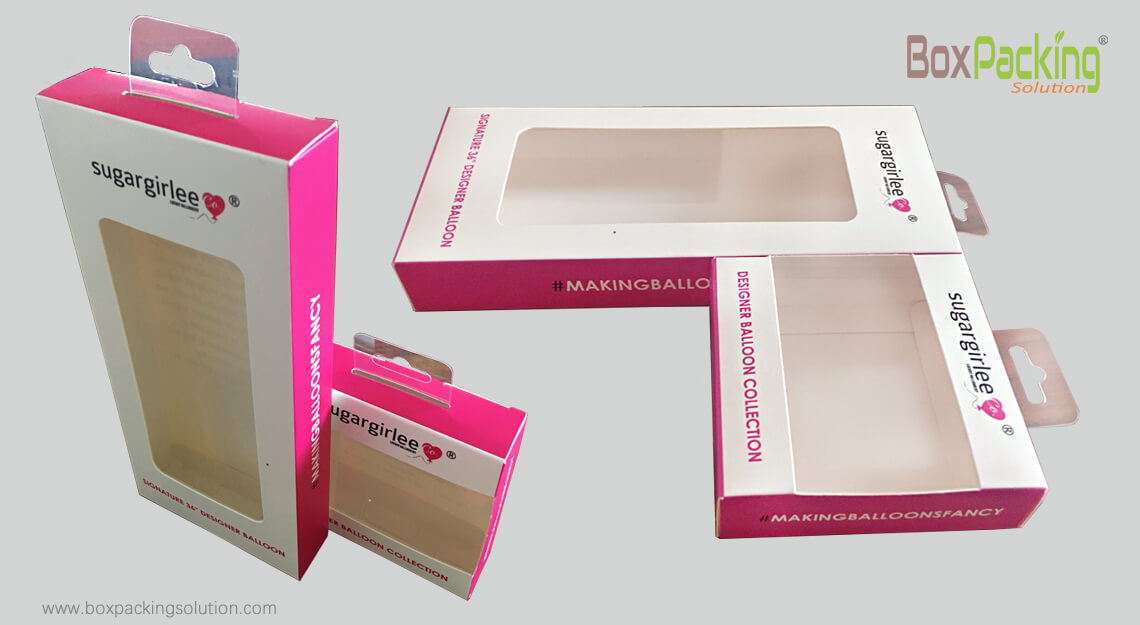 Custom Balloon Packaging Box