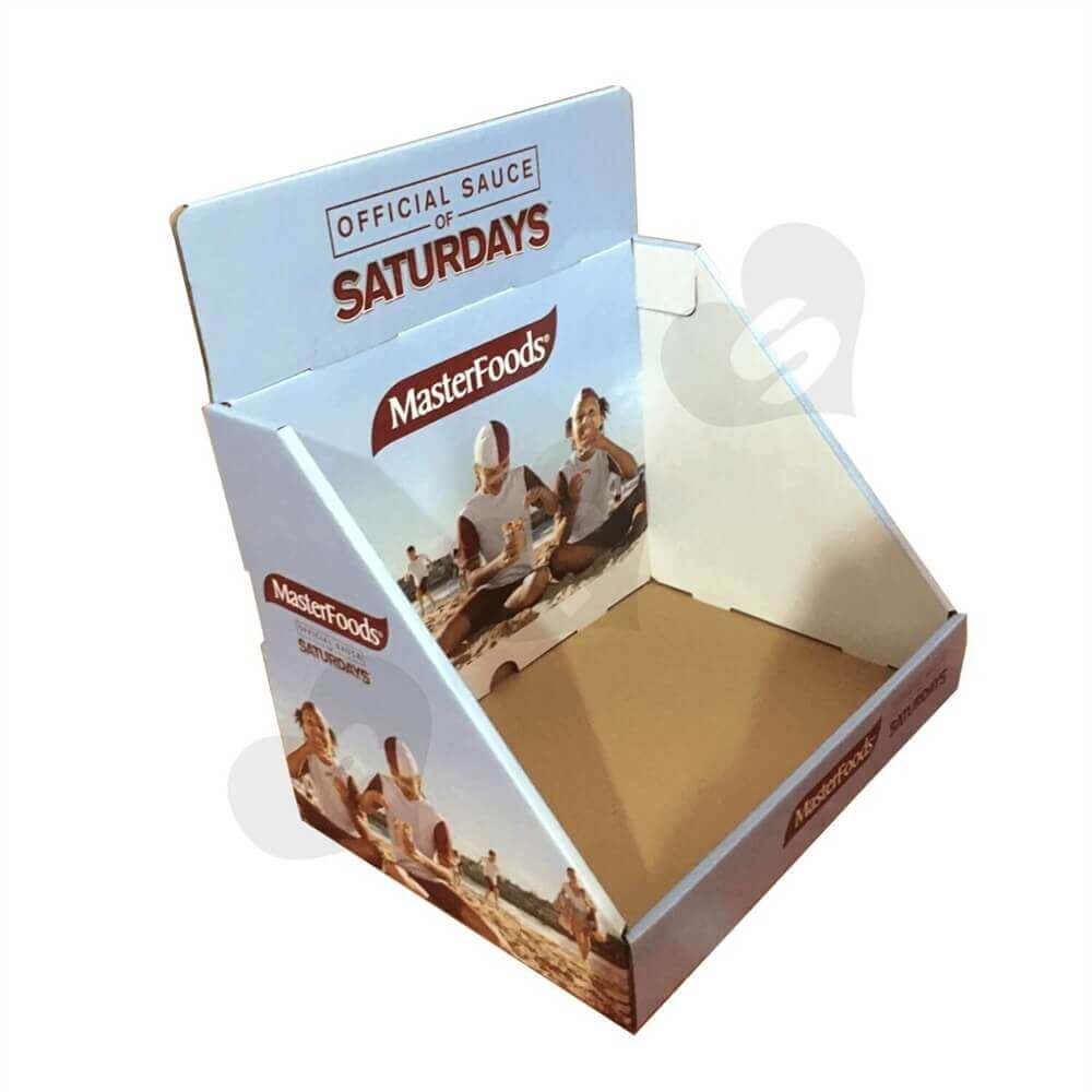Custom Corrugated Food Counter Top Display Sideview Four