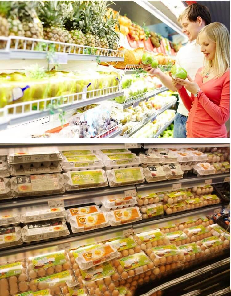 Custom Egg Packaging Boxes In Supermarket