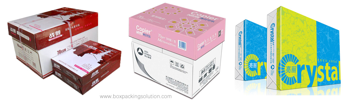 Custom Printed A4 Copy Paper Ream packaging box