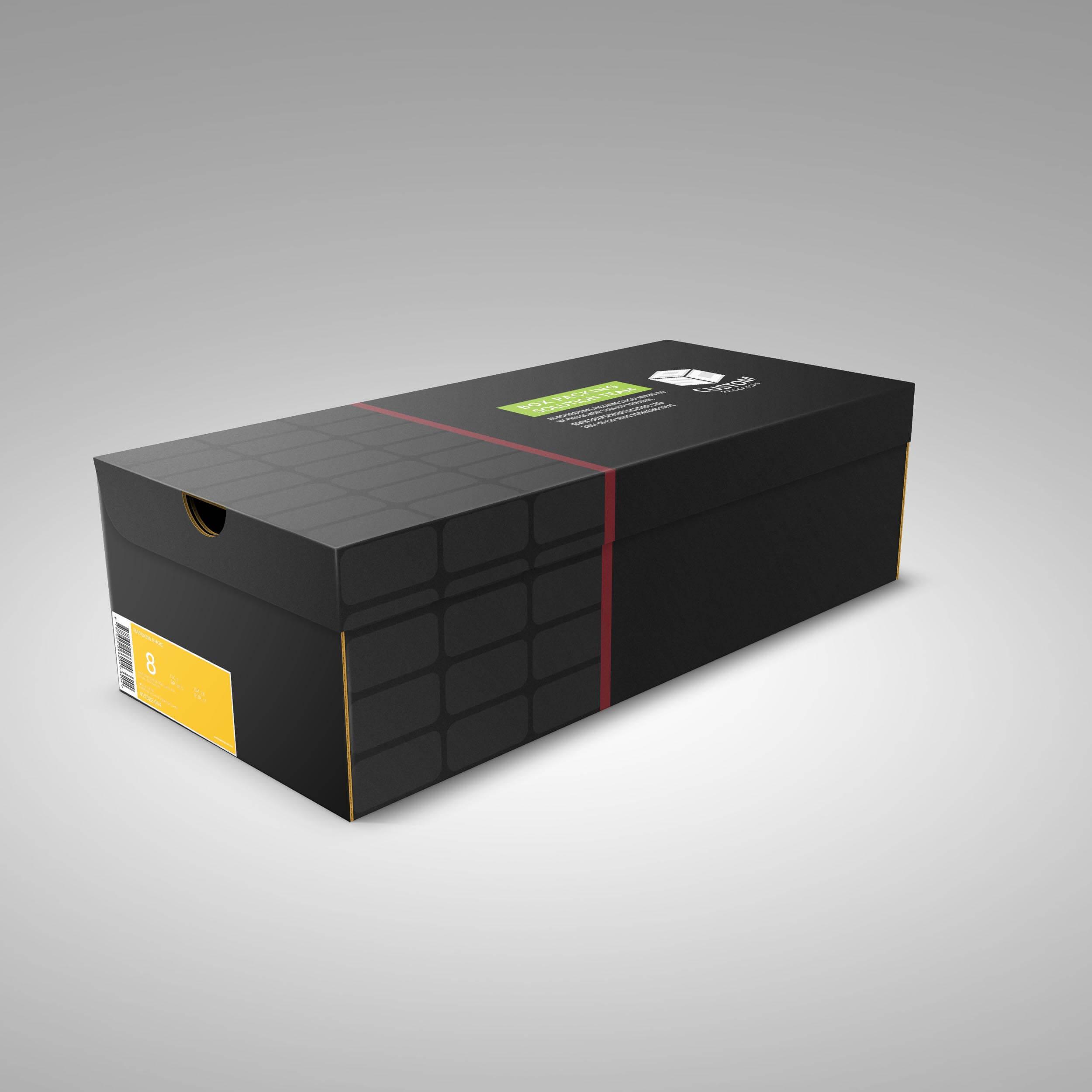 Custom Shoe Boxes With Logo Spot Uv Mock-up