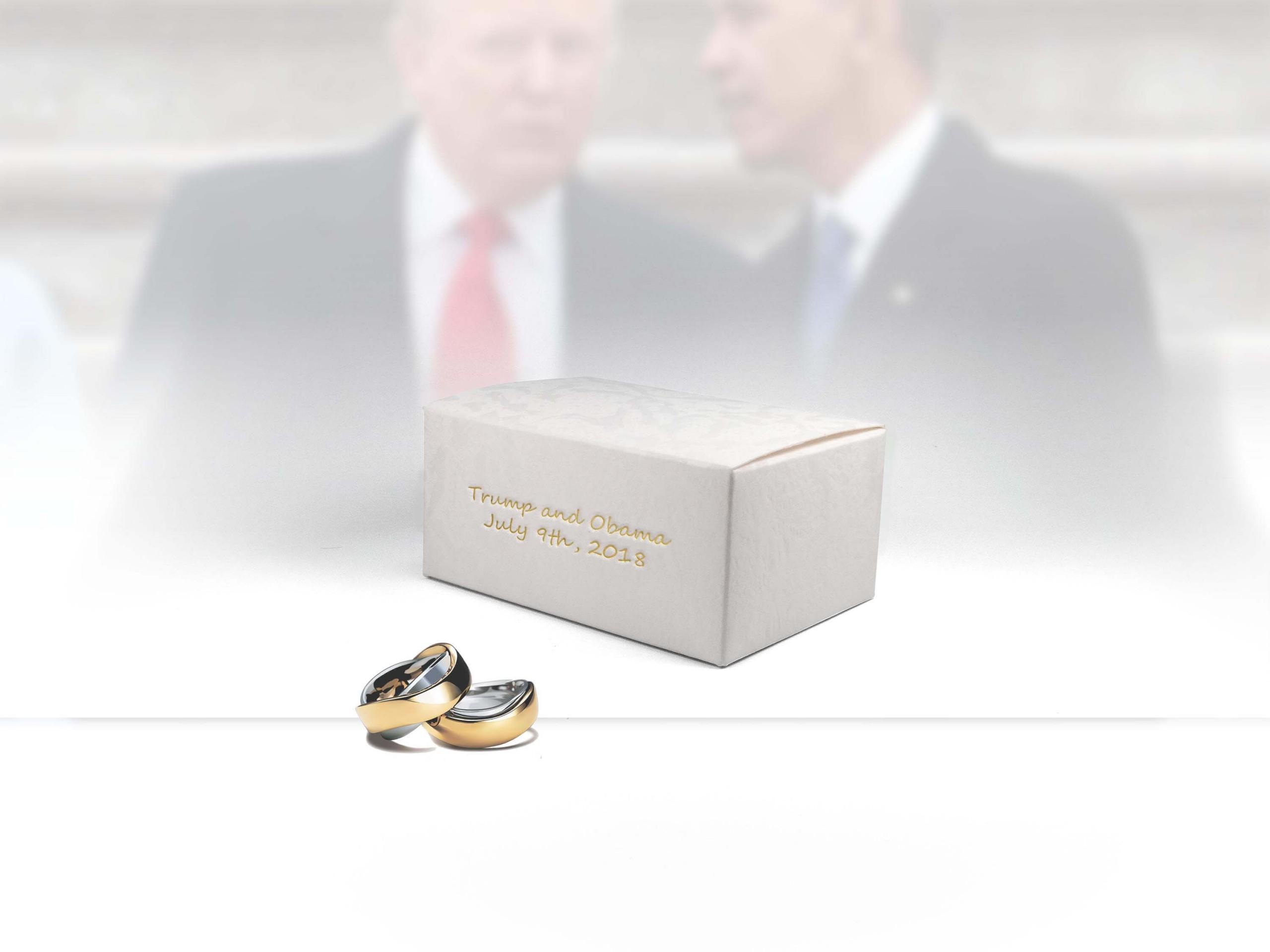 Custom Wedding Ring Box Mock Up