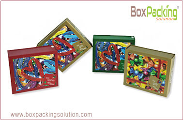 Custom printed rigid cardboard display box