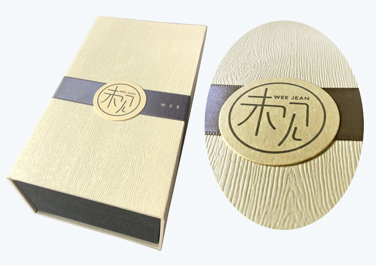 Customized Wooden Effect Perfum Packaging Box