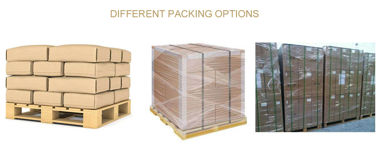 DIFFERENT PACKING OPTIONS