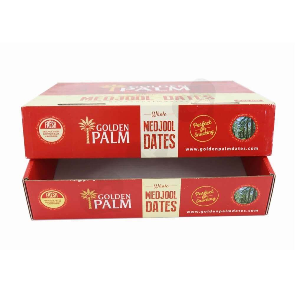 Dates Packaging Box With Lift-Off Lid Side View Three
