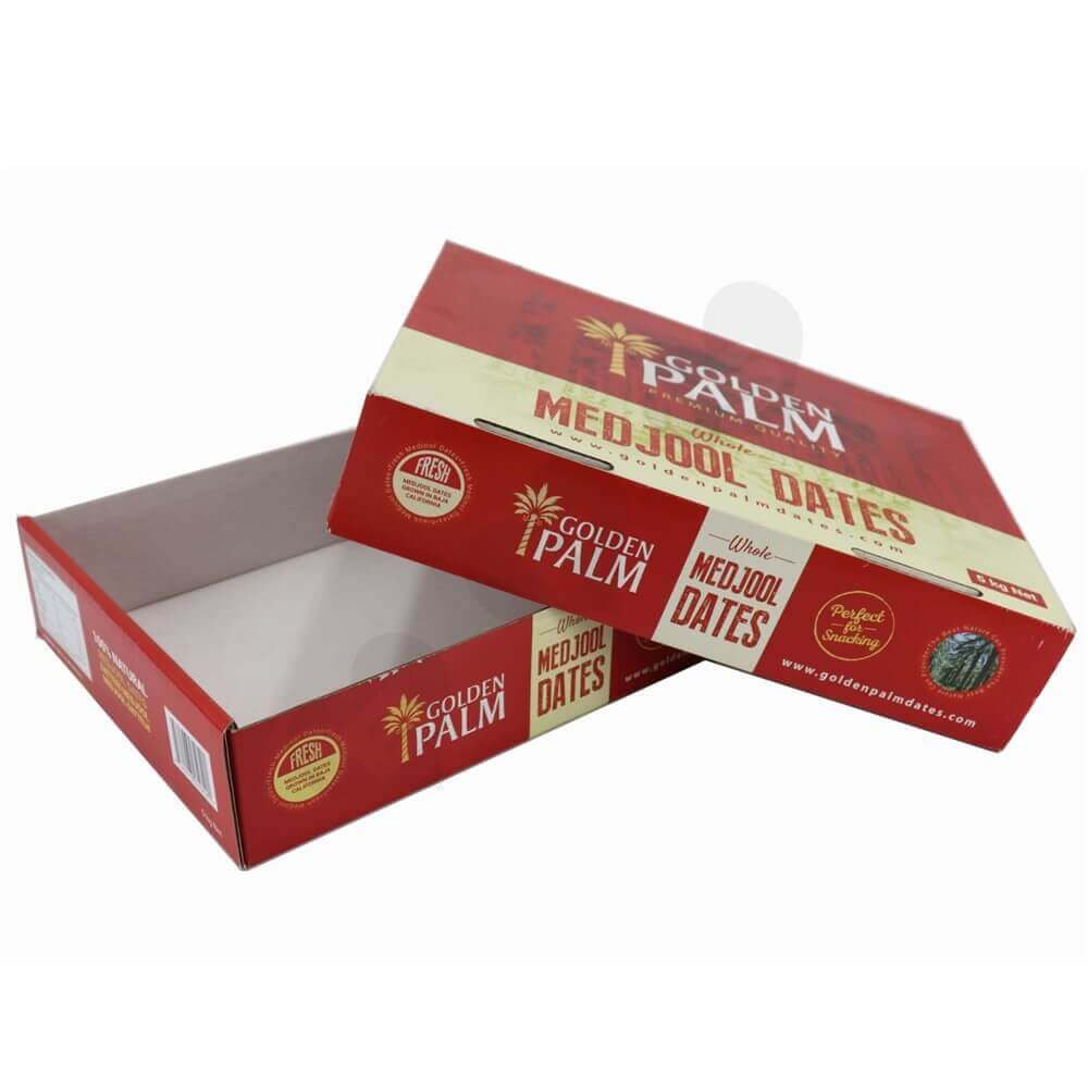 Dates Packaging Box With Lift-Off Lid Side View Two