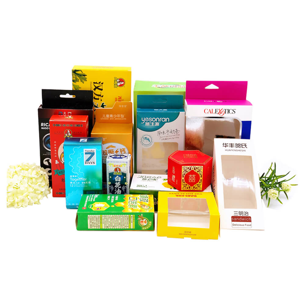 Different kinds of paperboard material made folding cartons