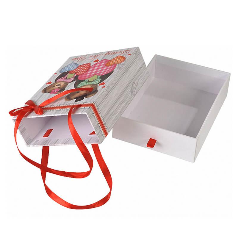 Drawer Box With Silk Ribbon Handle