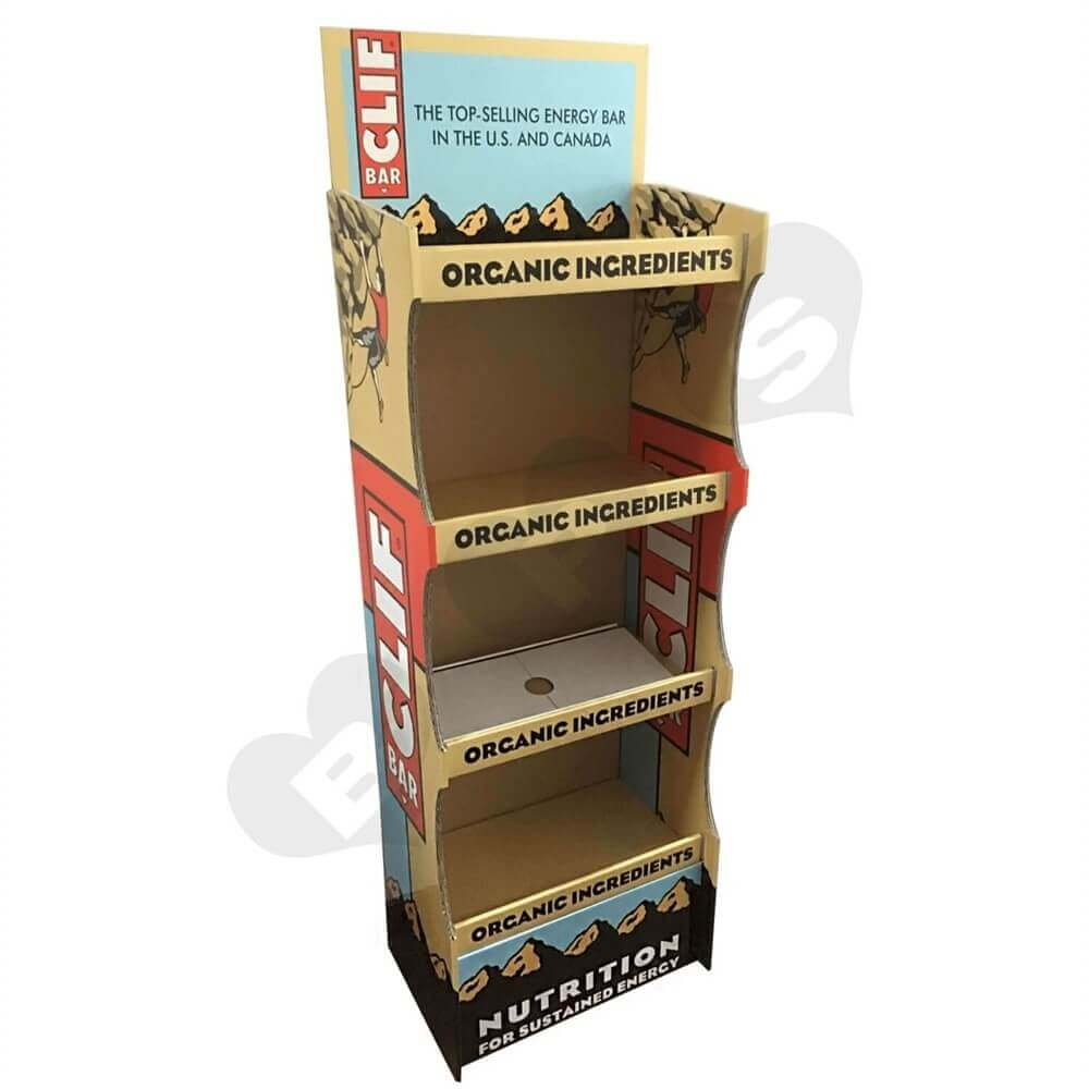 Energy Bar Corrugated Displays Floor Stand Sideview One