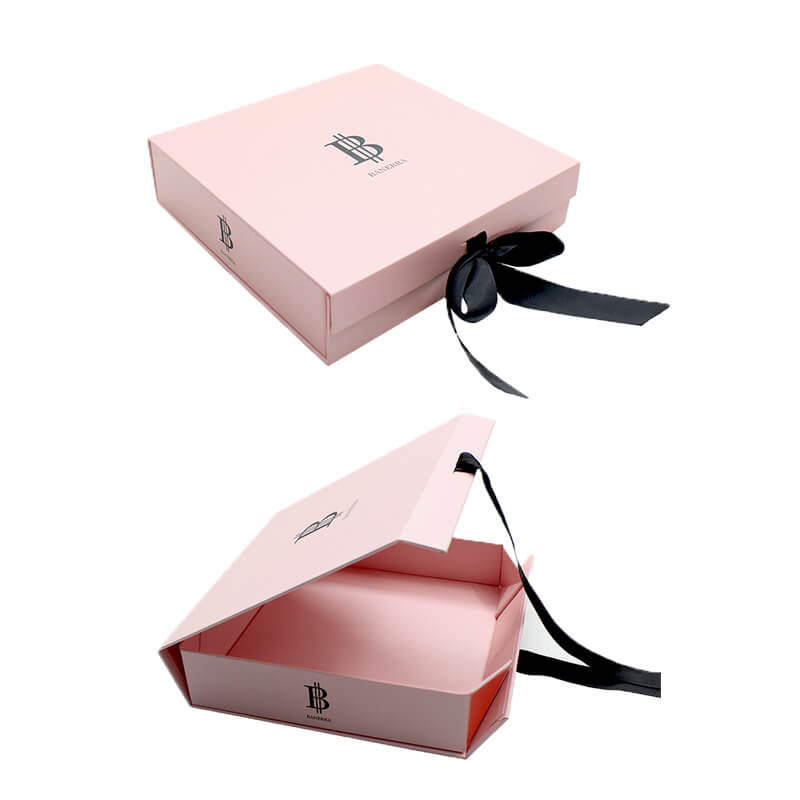 Foldable Gift Packaging With Ribbon Closure