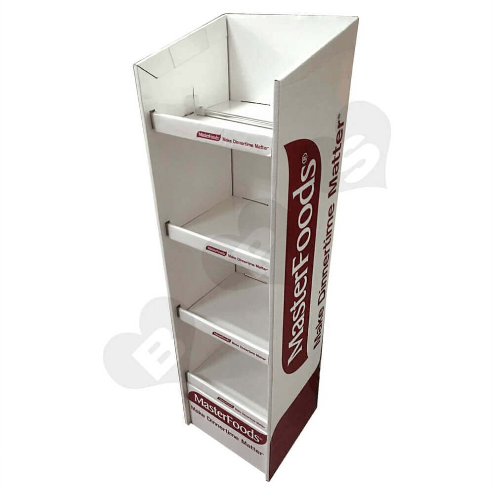 Food Merchandise Corrugated Display Box Sideview One