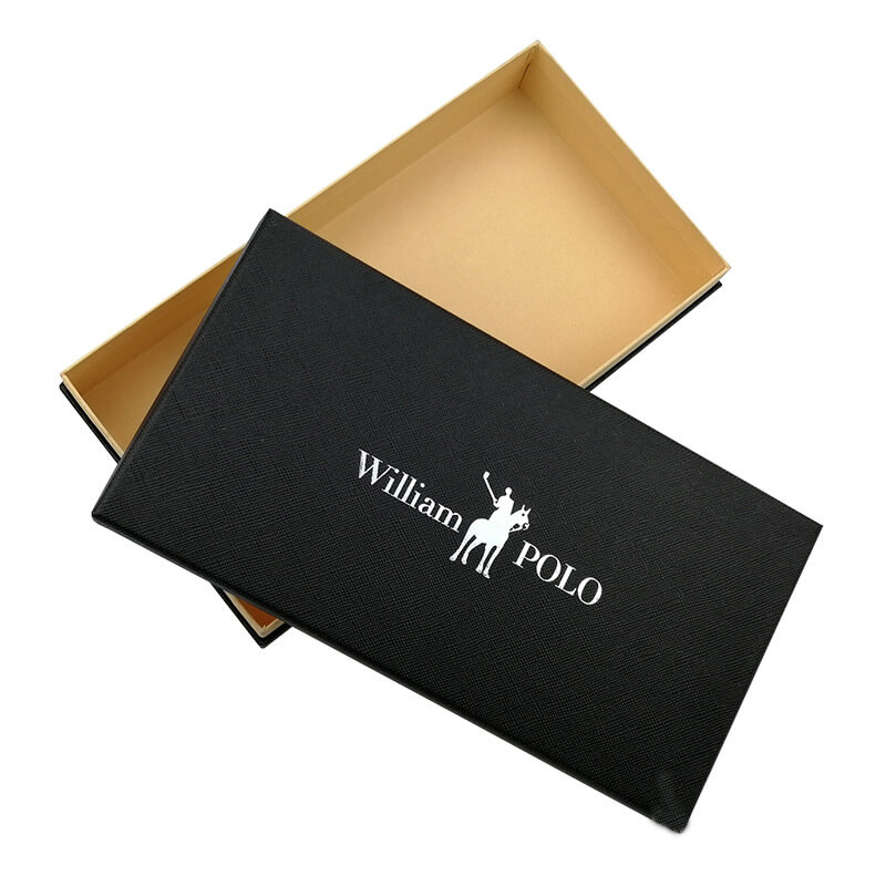 Gift Box With Silver Stamped Logo