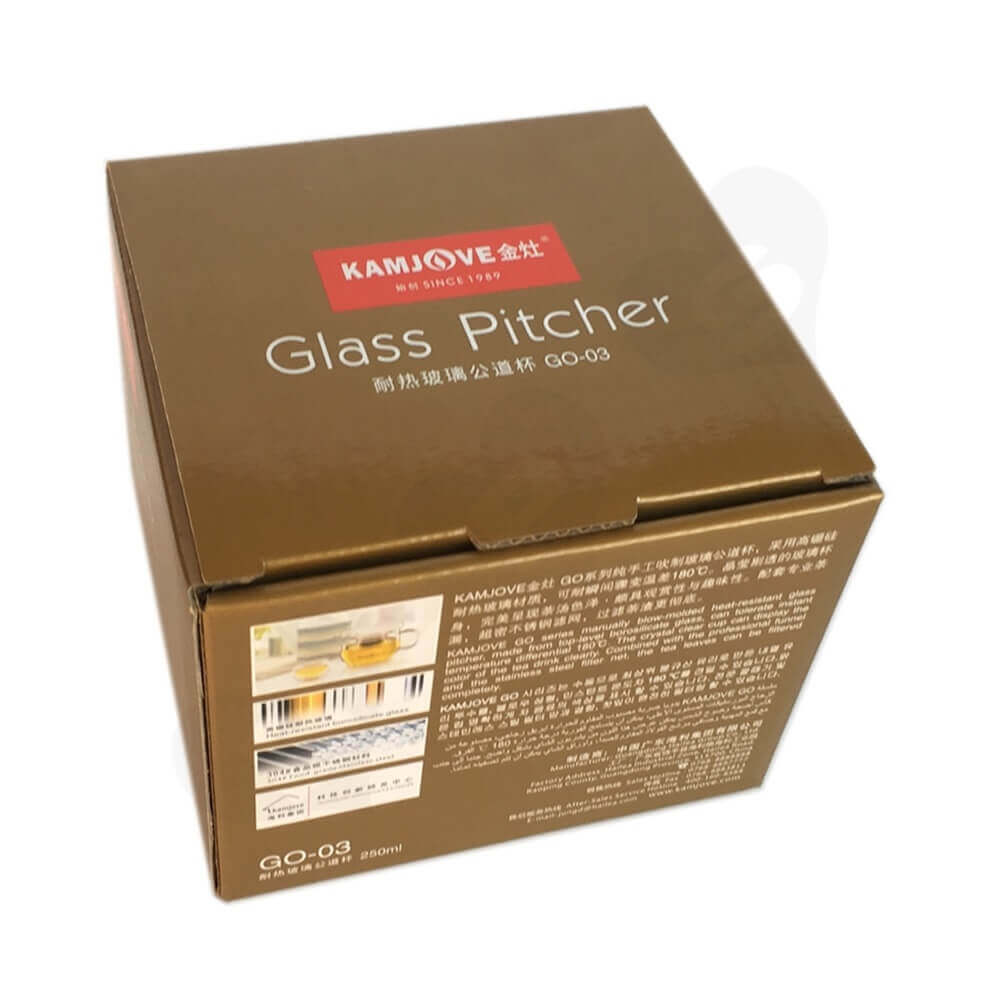 Glass Pitcher Packaging Box Side View One