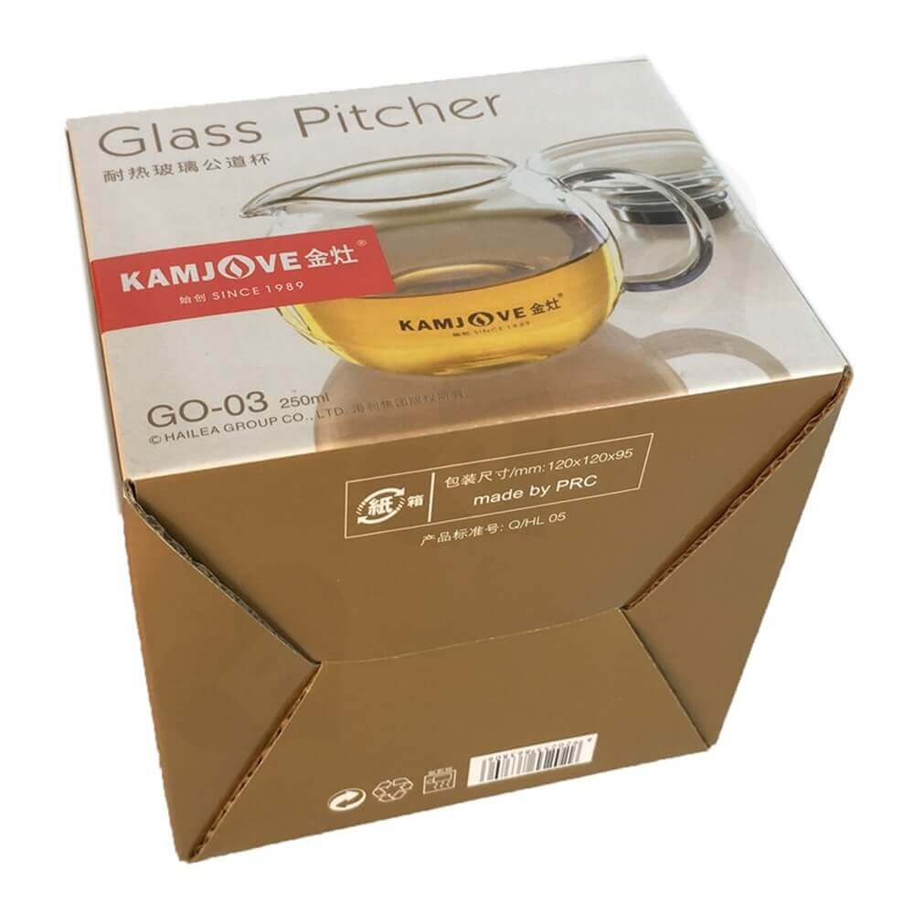 Glass Pitcher Packaging Box Side View Six