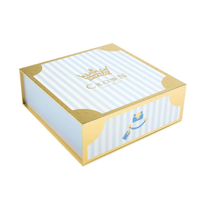 Glossy Varnish Metallic Paper Gift Boxes