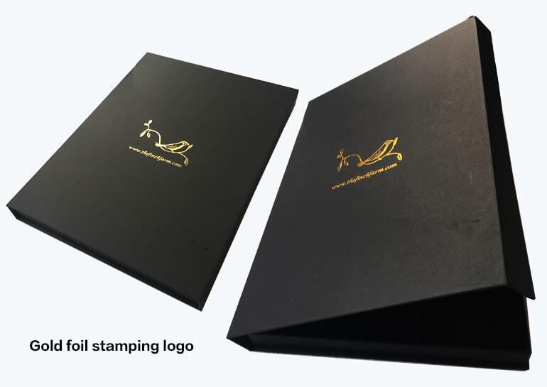 Gold Stamped Bespoke Custom Rigid Boxes
