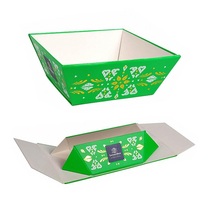 Green Foldable Rigid Display Tray