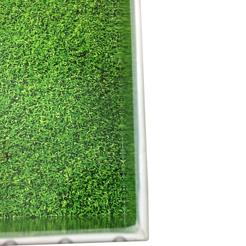 Green Grass Printing Inside Of A Gift Box