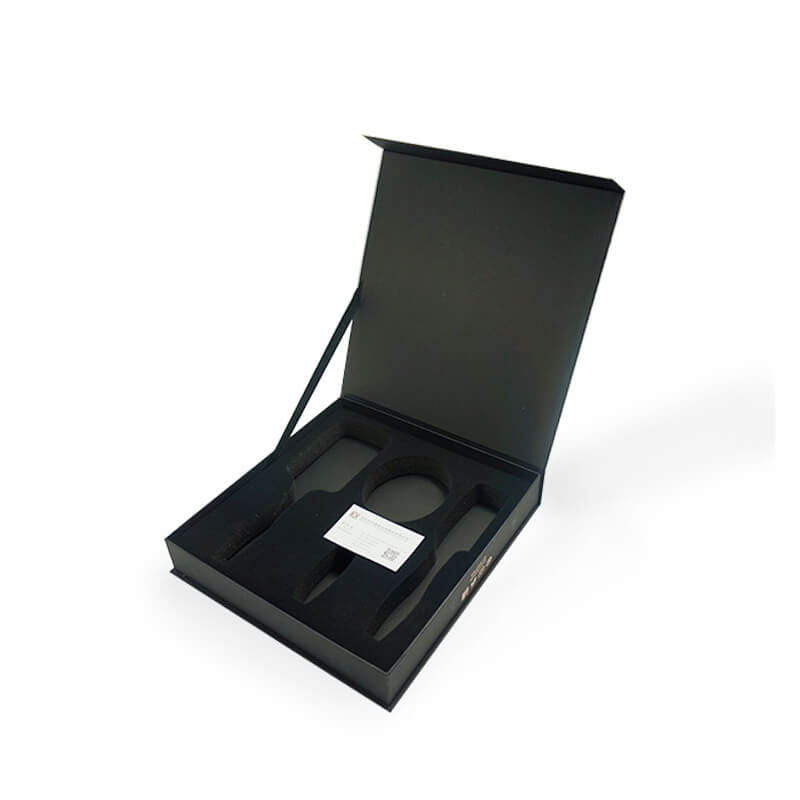 Hinged Lid Gift Box With Ribbon Support