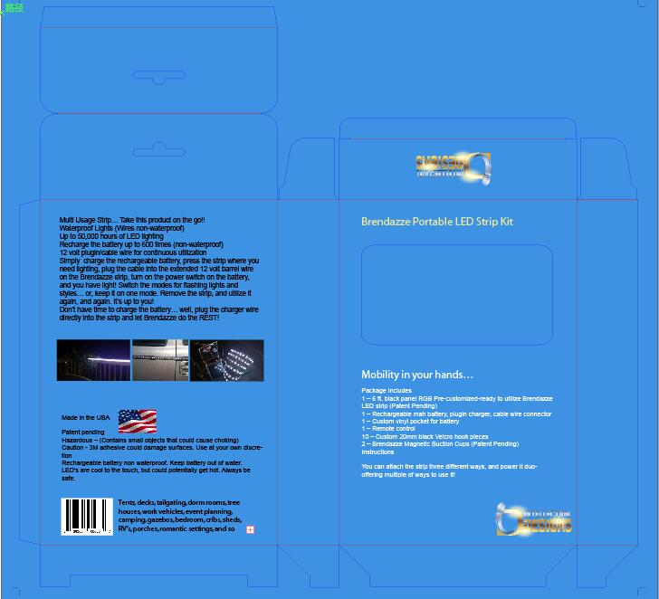 LED strip packaging box design