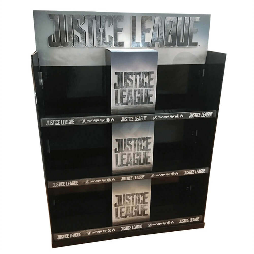 Large Custom CD DVD Display Rack Sideview Three