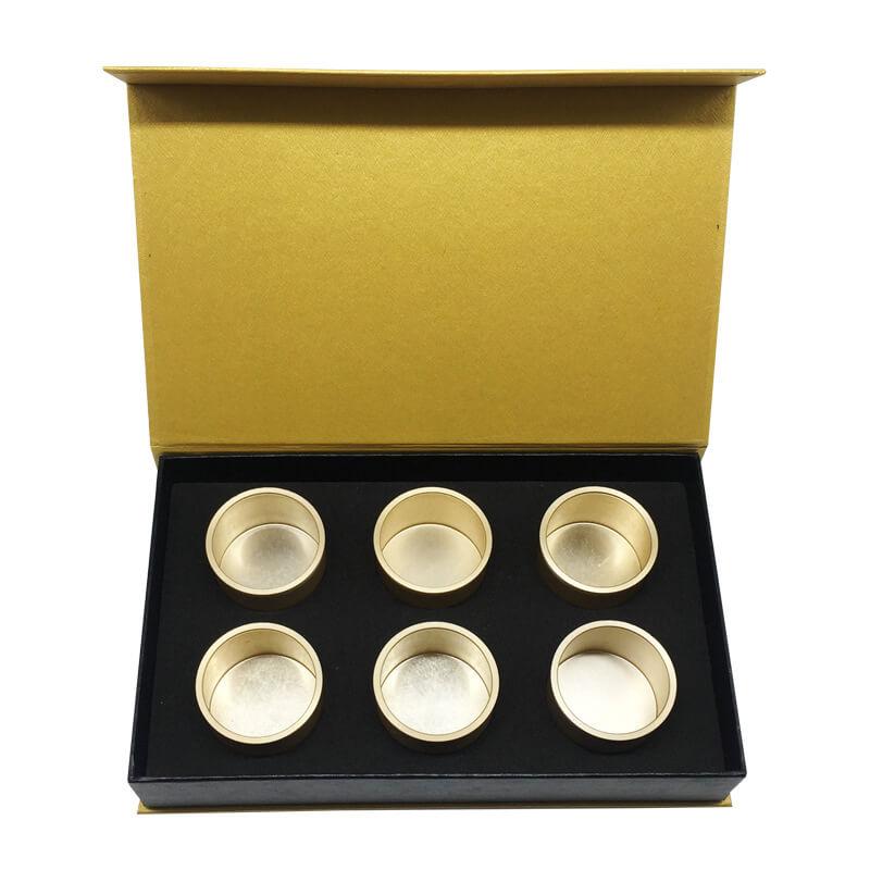 Metallic Laminated Book Shape Tea Gift Boxes