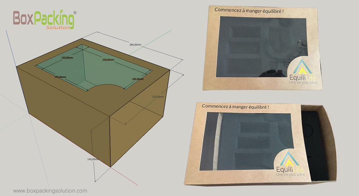 Mug Boxes With Plastic Window