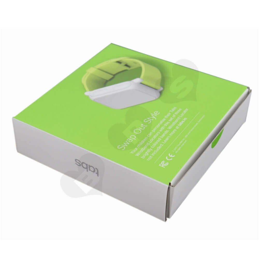 Offset Printed Wristbands Packaging Carton Box Side View One