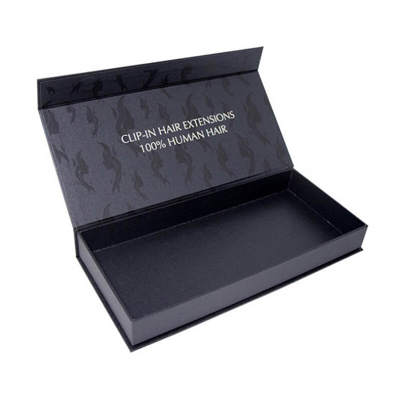 One Color Printed Paper Gift Box For Hair Extension Product
