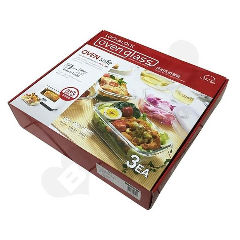 Oven Cookware Packaging Box Side View Six