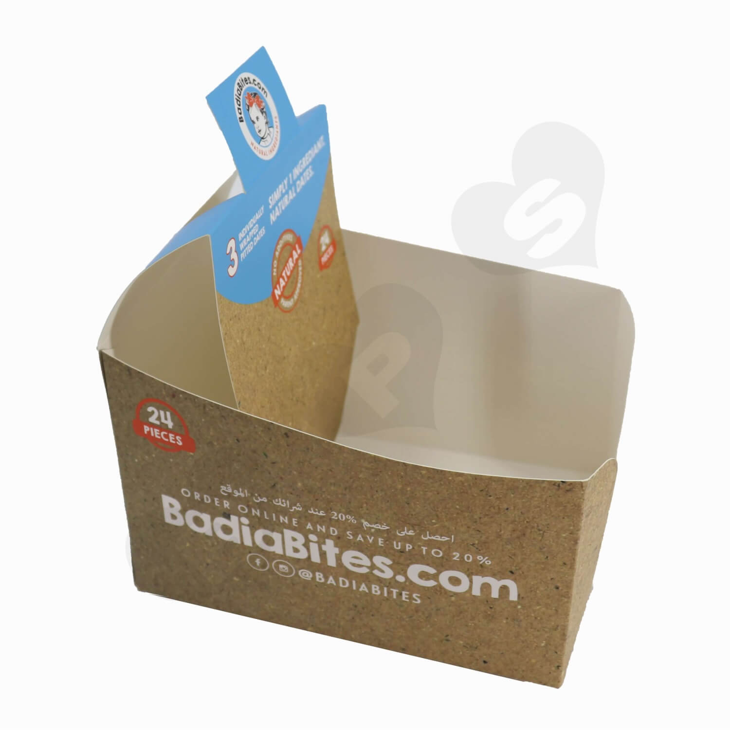 Paperboard Snack Box Displays side view two
