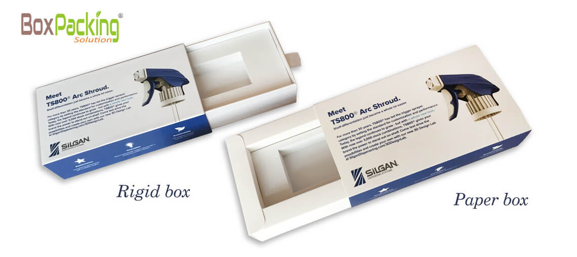 Personalized Rigid Rawer Box And Paperboard Drawer Box