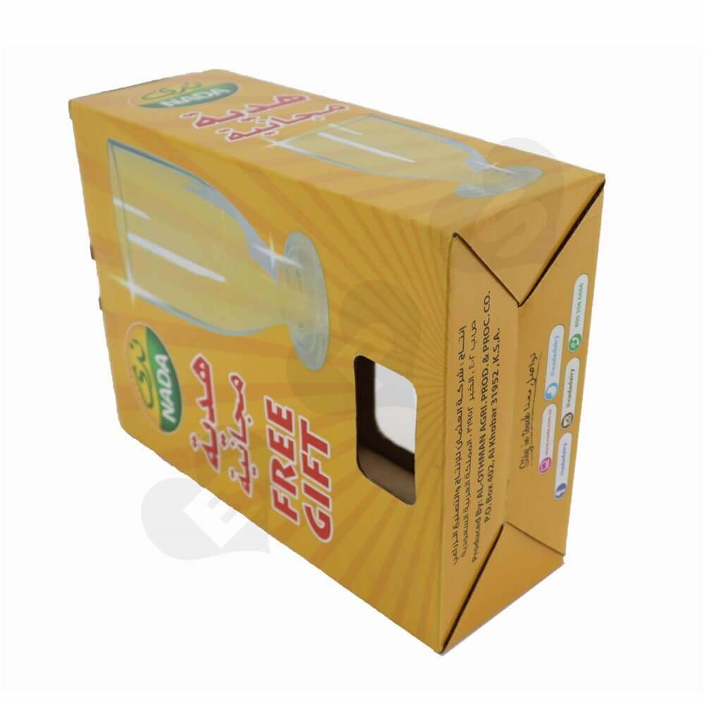 Printed Corrugated Promotional Boxes Side View Two