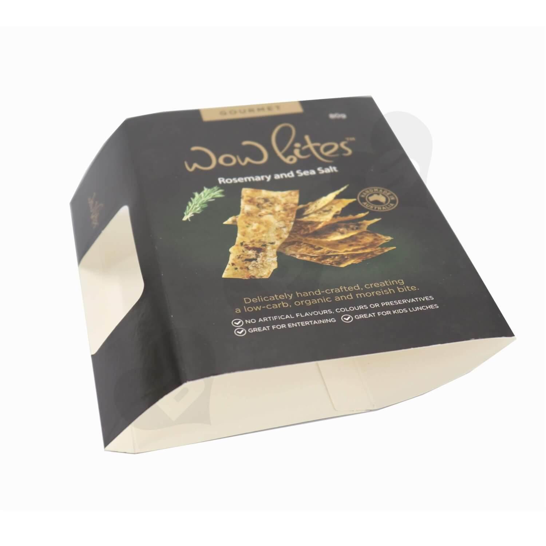 Printed Snack Food Packaging Sleeve side view three