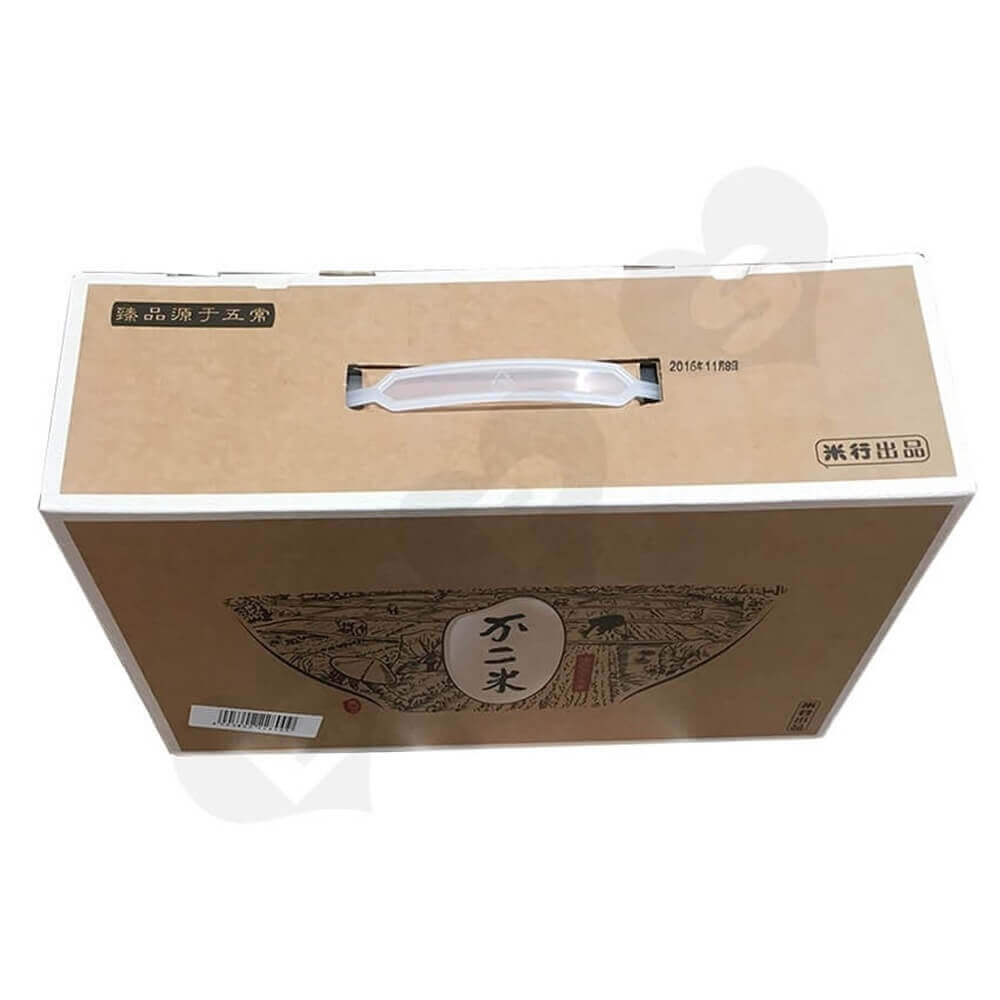 Rice Packaging Box With Handle Side View Five