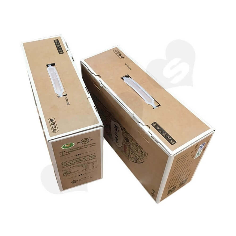 Rice Packaging Box With Handle Side View Six