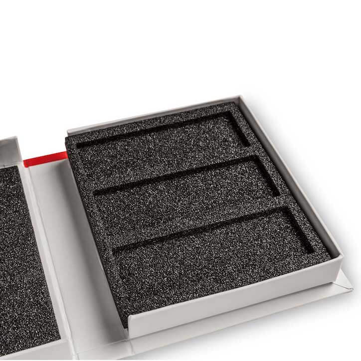Rigid Boxes Custom Made With EPE Foam Lining