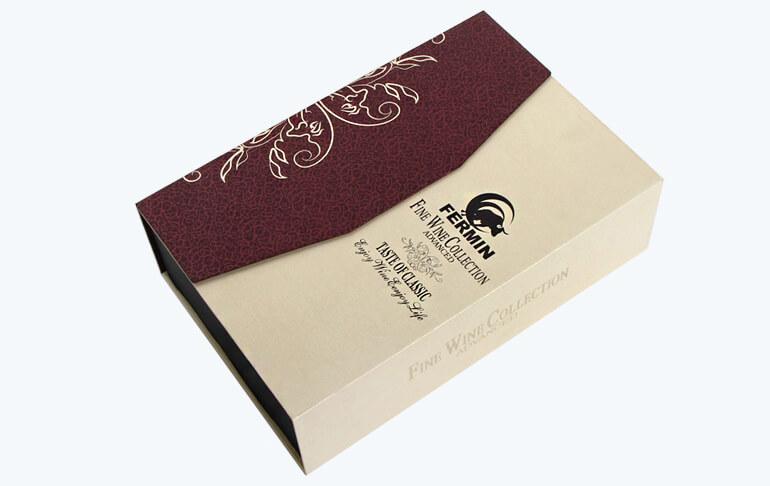Rigid Cardboard Red Wine Packaging