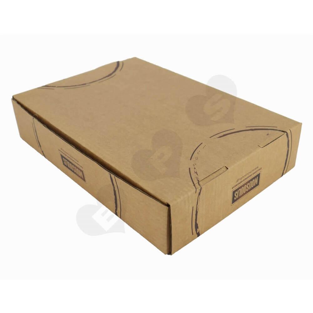 Rigid Corrugated Cardboard Apparel Box Side View Two