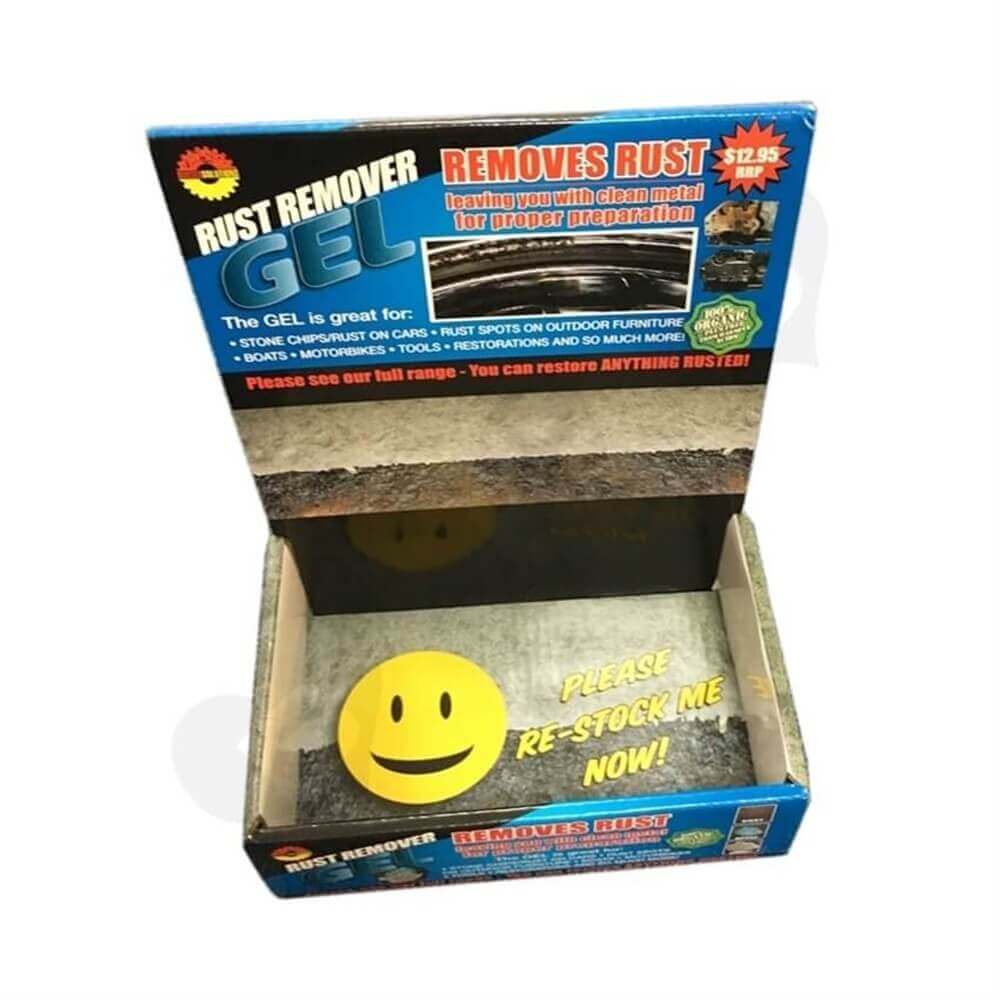Rust Removal Gel Counter Display Sideview One